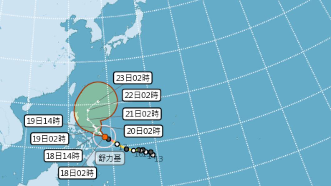 圖/中央氣象局 快訊/強颱「舒力基」對西部影響小 旱象恐難解