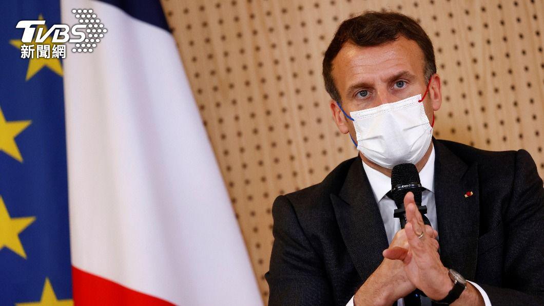 法國總統馬克洪。(圖/達志影像路透社) 馬克洪籲對俄國劃下清楚紅線 若越線就考慮祭制裁