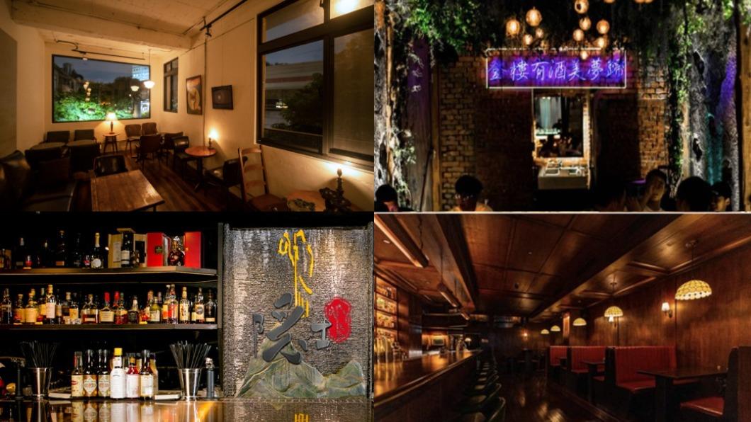 一日限定的「Red Bull Bar Block無夜城」活動,集結15間風格酒吧。(圖/翻攝自榕 RON、弎樓Third Floor、The Public House、隱士The_Hermit臉書) 免辛苦跑酒吧!串聯15間特色名店「無夜城」5/1登場