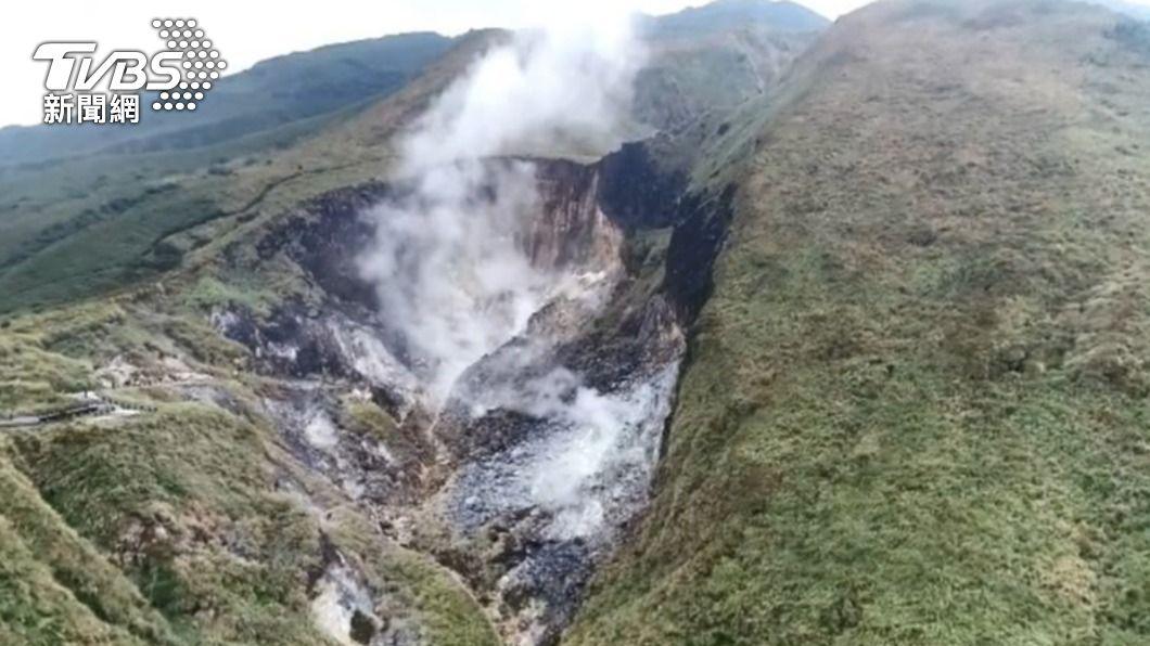 大屯火山群。(圖/TVBS) 大屯山岩漿距地表僅8km 學者示警:天母、士林注意了