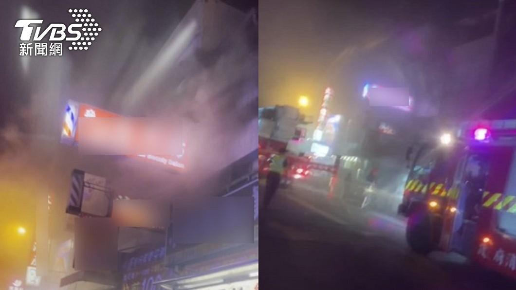 台中市中華路一間民宅18日深夜發生火警。(圖/TVBS) 台中惡火奪3幼童命 知兩家人清寒「後事他全包」