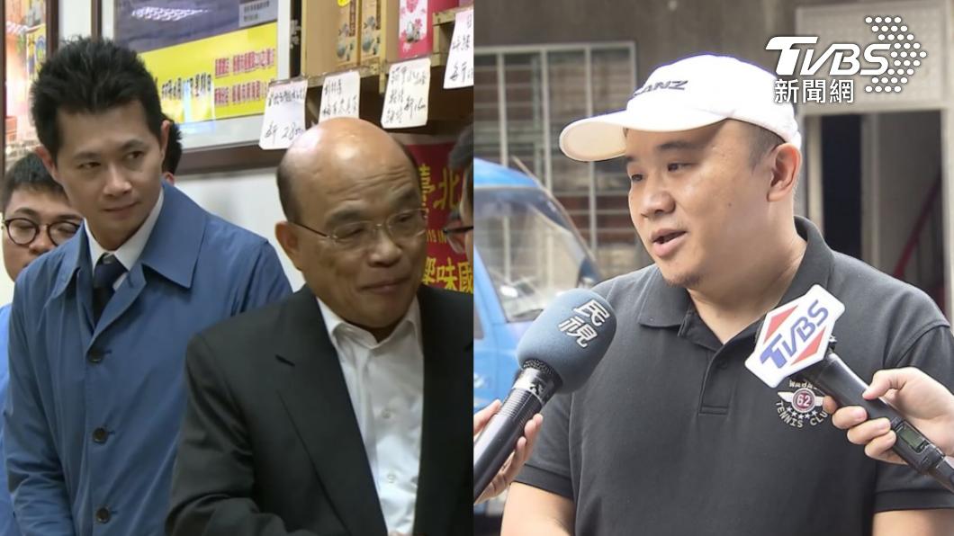 先前丁怡銘回歸政院,牛肉麵店總經理陳家斌(右)表示「不能理解」。(圖/TVBS資料畫面) 「牛飼料含萊劑」丁怡銘不起訴 皇家傳承曝:偵訊引導回答