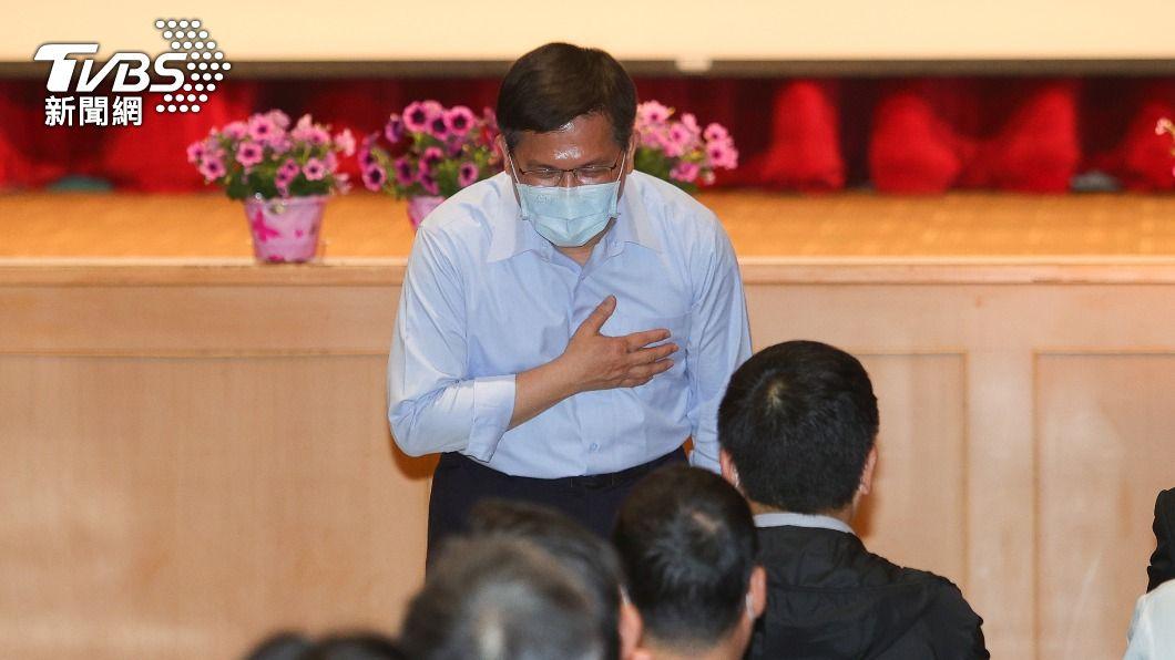 林佳龍出席感恩惜別會。(圖/中央社) 交通部長林佳龍卸任 相信不會影響政策延續