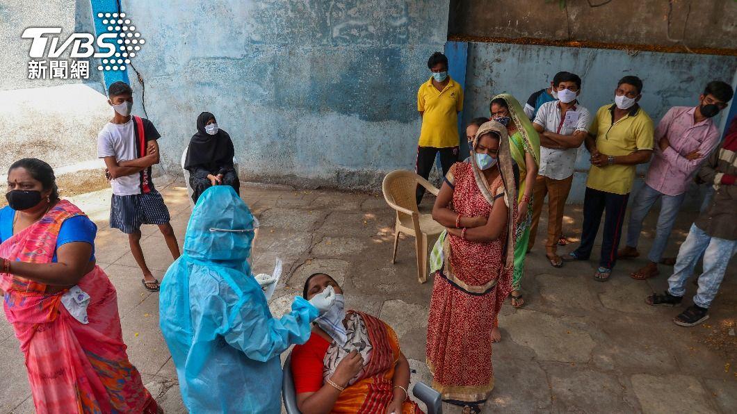 (圖/達志影像美聯社) 印度新冠肺炎疫情惡化 5月起成年人都可打疫苗