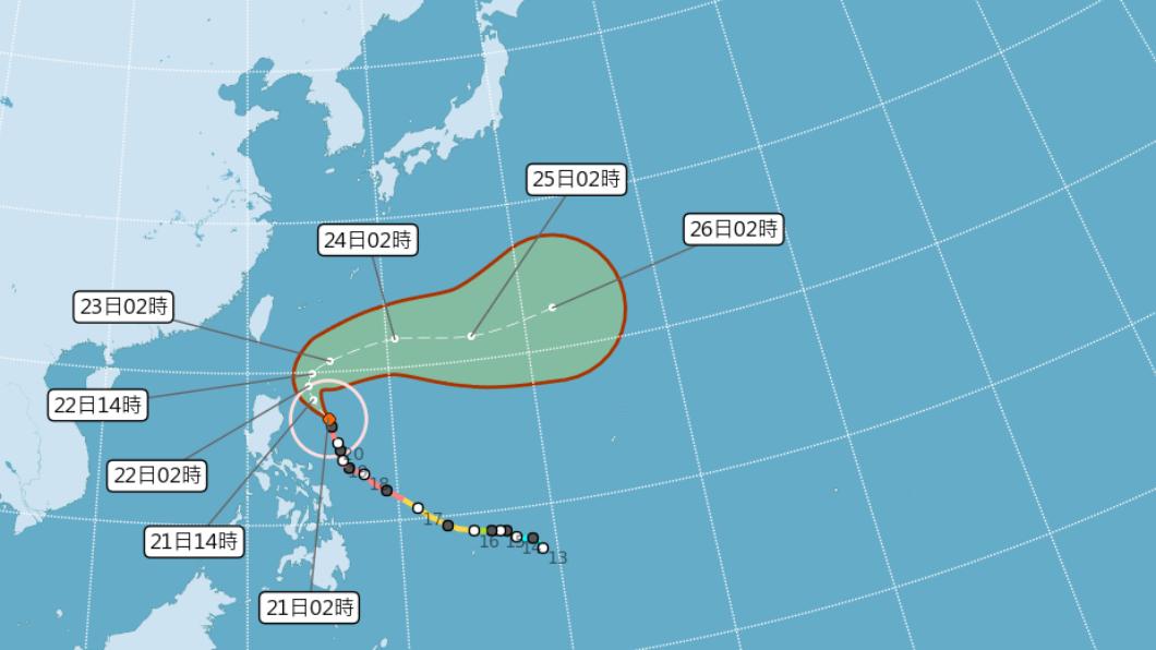 舒力基明最靠近台灣 恆春半島預料掀5公尺高長浪