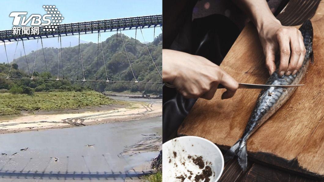 石門水庫蓄水量持續下探,民眾恐無法享用「活魚三吃」。(圖/TVBS、shutterstock 達志影像) 石門水庫漁獲量不到1成!特色「活魚三吃」快沒了
