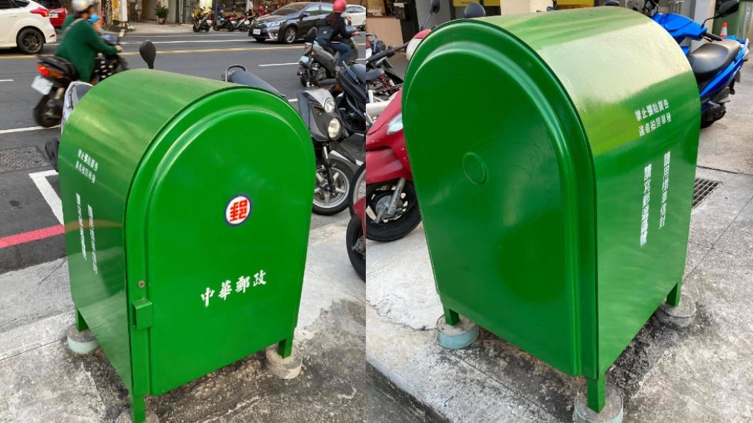 民眾在路邊看到一個造型特殊郵筒。(圖/翻攝自「爆廢公社」) 男驚見「沒孔郵筒」無法寄信 內行曝解答:不是給你用