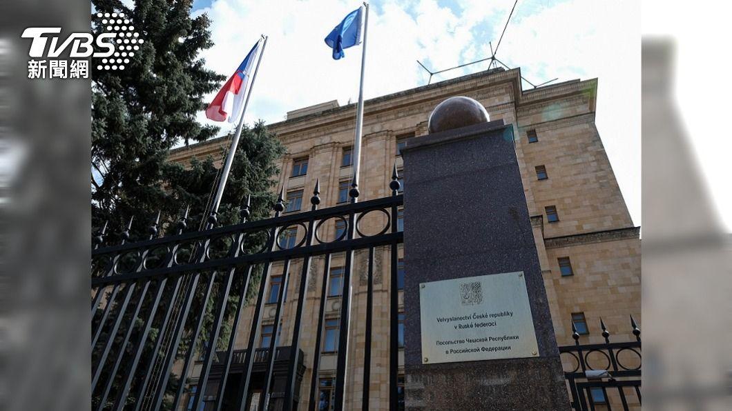 圖為捷克駐莫斯科大使館。(圖/達志影像路透社) 布拉格對俄下通牒 要求讓捷克外交官返回莫斯科