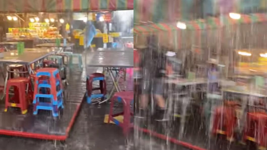 雨神來了!清境農場「暴雨夾冰雹」遊客超興奮