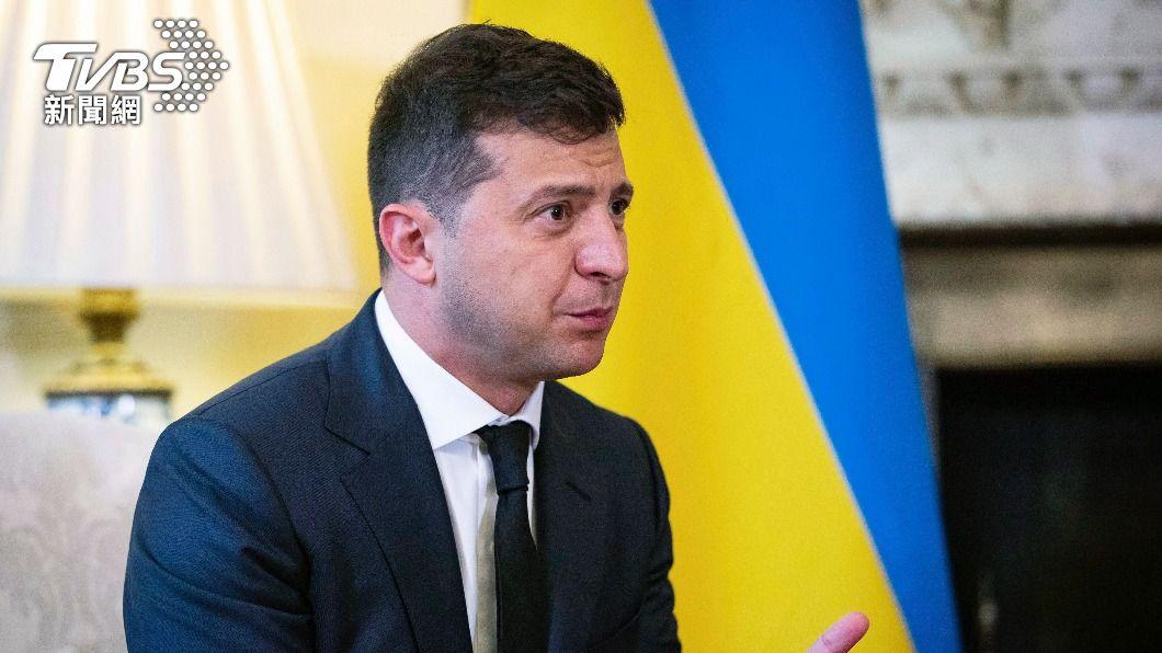 烏克蘭總統澤倫斯基。(圖/達志影像美聯社) 俄羅斯減少邊界兵力 烏克蘭總統:降低兩國緊張
