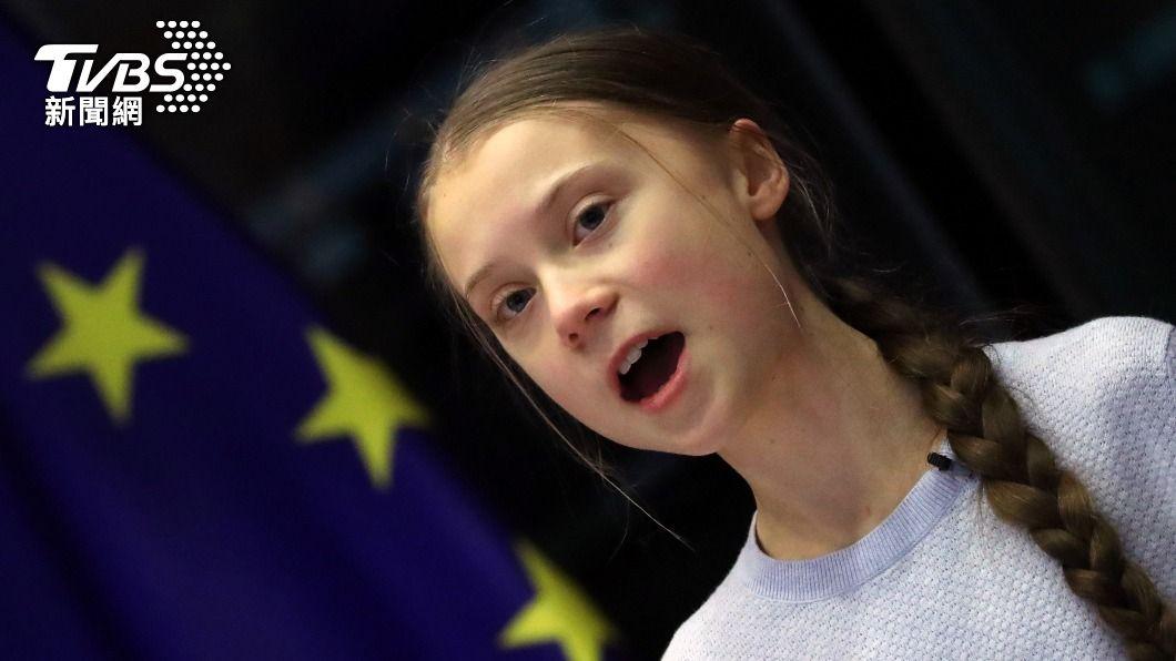 瑞典環保少女童貝里。(圖/達志影像路透社) 面對氣候變遷危機 環保少女童貝里斥掌權者輕忽