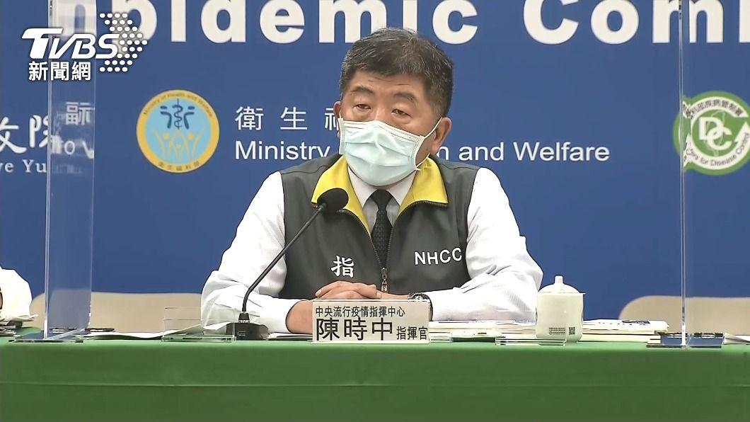 疫情指揮中心指揮官陳時中。(圖/TVBS) 外籍機師飛澳洲確診新冠肺炎 無關台灣染疫機師