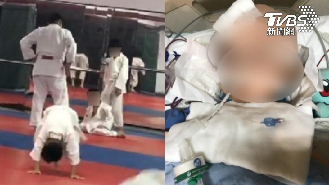 黃姓男童上完柔道課昏迷送醫被宣告腦死。(圖/TVBS) 7歲童學柔道腦死! 資深教練搖頭曝「對練關鍵」