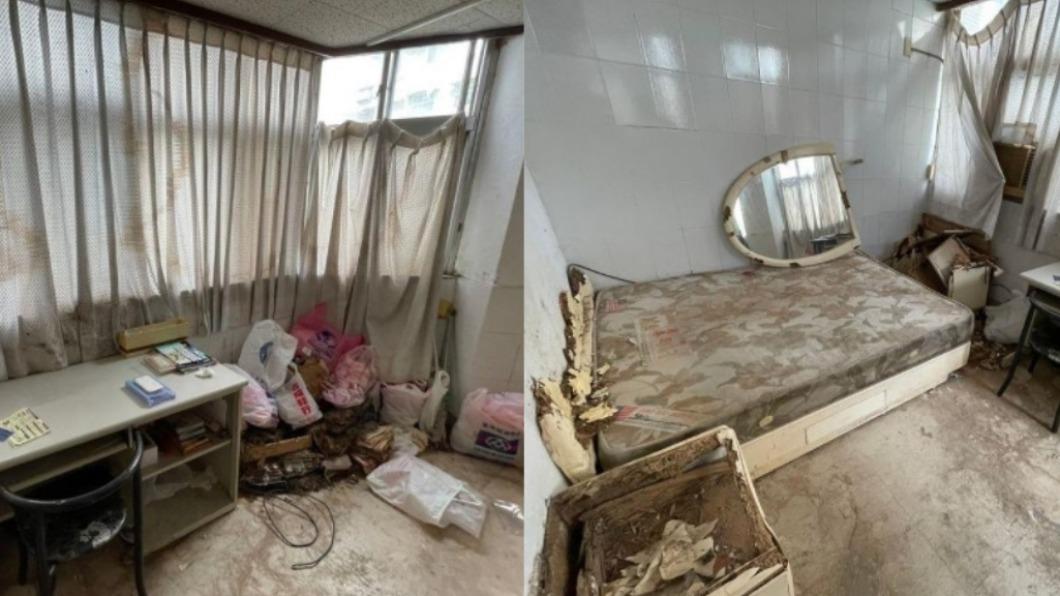 女子被房子內部照片嚇傻。(圖/翻攝自爆廢公社) 台北捷運套房月租1萬 網看「內部照」:送錢也不要