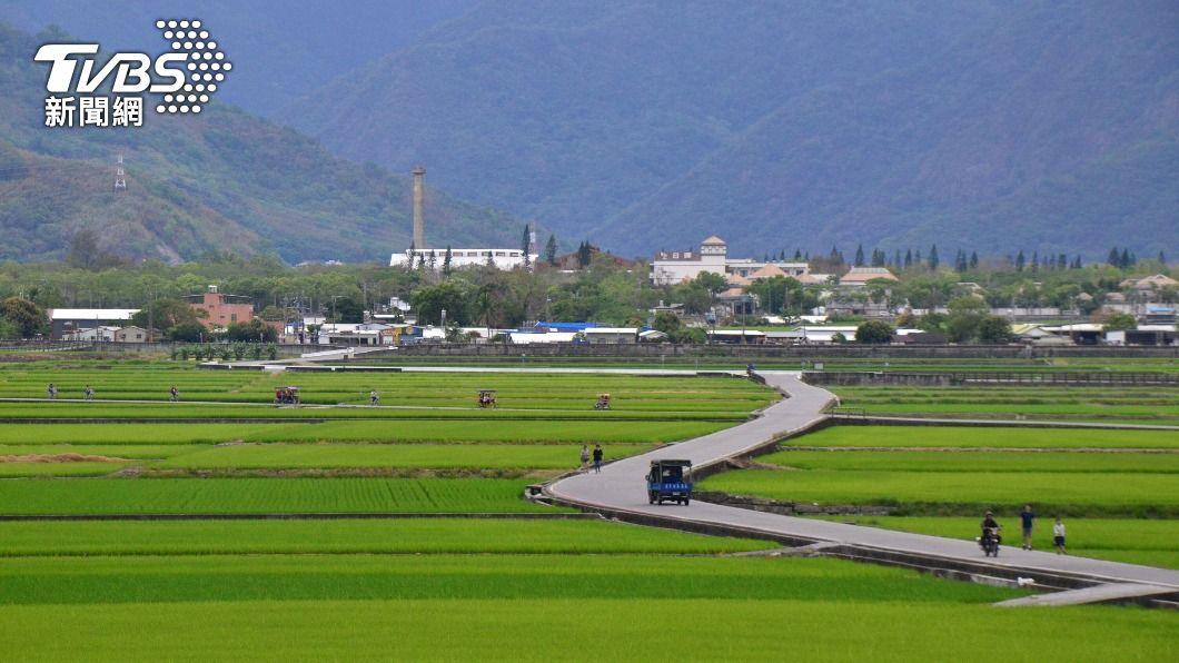 台東昨(23)日晚間出現連續雨勢。(圖/中央社) 台東累積雨量逾50毫米 農水署估一期稻可過關