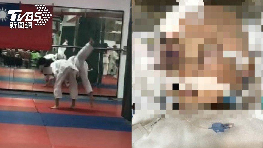 黃姓男童參加柔道課程才2週卻成為練摔對象。(圖/TVBS) 學柔道被摔腦死恐成植物人 同學「錄音送病房」為童集氣