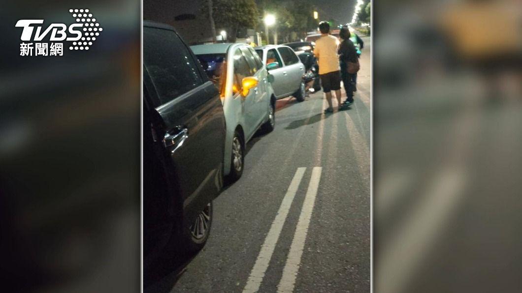 圖/TVBS 台中酒駕連環撞三車 議員楊典忠遭撞傷