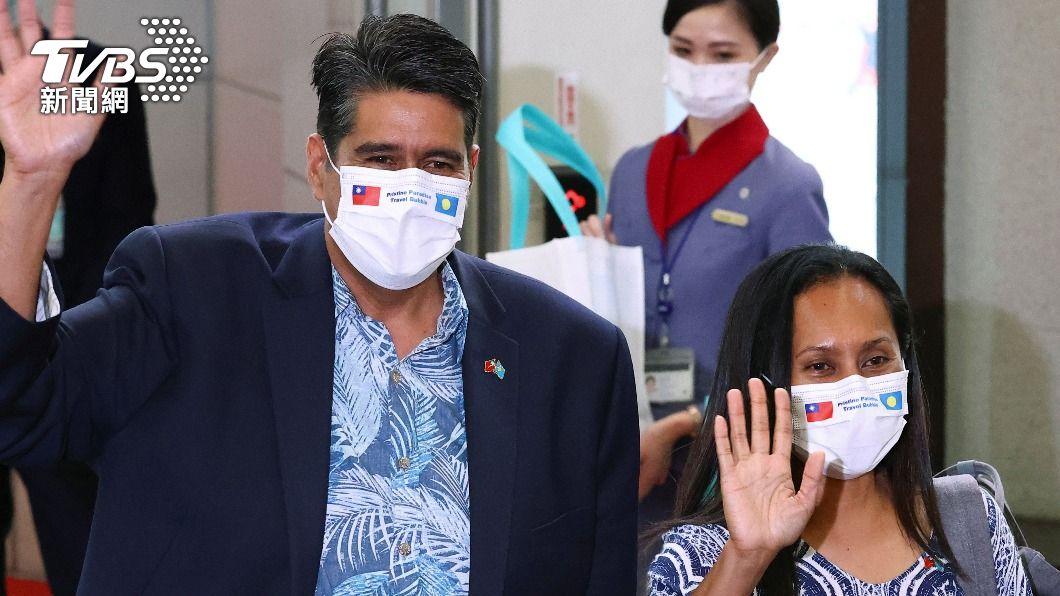 帛琉總統惠恕仁與其妻子於3月28日率團訪問台灣,並進行與台「旅遊泡泡」洽談事宜。(圖/達志影像路透社) 義大利大報:台灣疫情少到像玩笑 納入WHO呼聲高