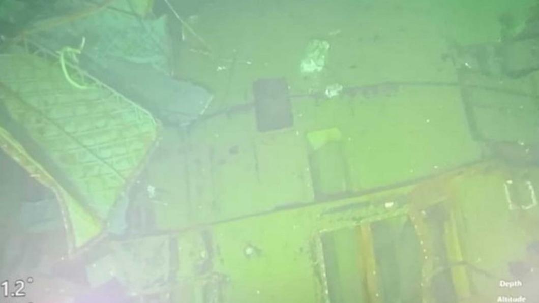 圖/中央社(印尼國軍提供) 印尼潛艦沈入海底838公尺 海軍盼打撈調查原因