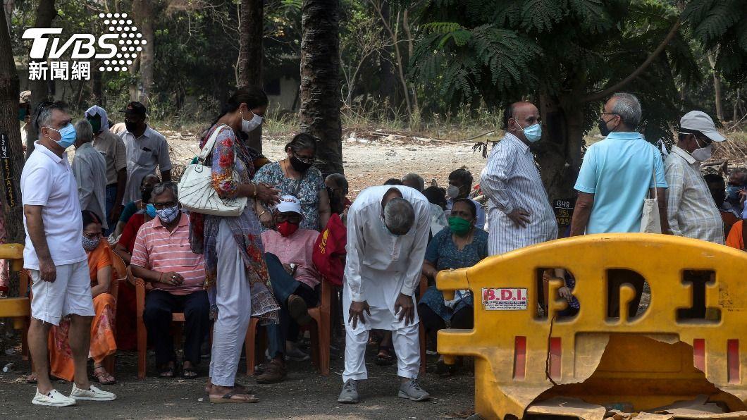 印度疫情嚴重惡化。(/達志影像美聯社) 印度疫情嚴重惡化 世衛加派人員和物資協助抗疫
