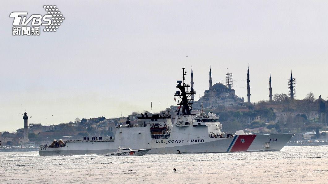 美海岸防衛隊韓密爾頓級巡防艦駛往黑海海域。(圖/達志影像路透社) 美海防隊艦艇駛往黑海 俄羅斯海軍宣布實彈演習