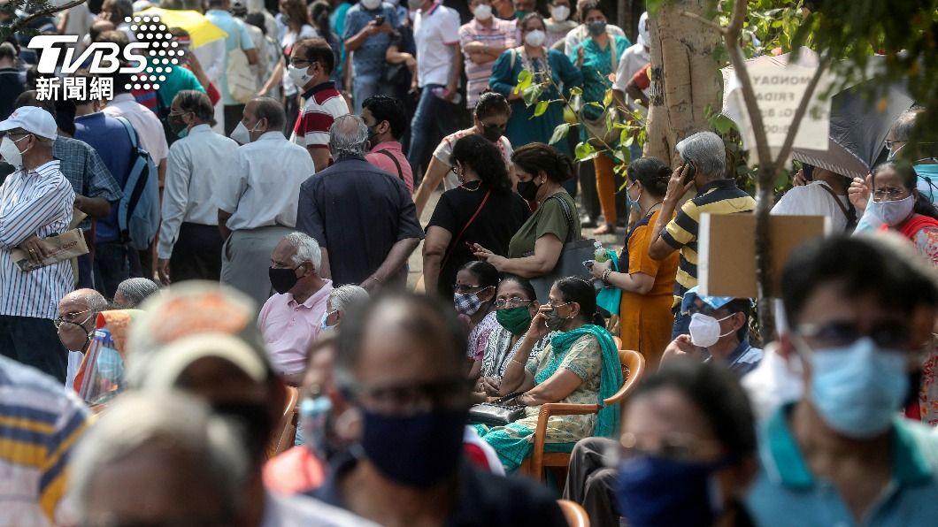 印度染疫人數急速上升。(圖/達志影像美聯社) 印度變種病毒株 世衛:至少在英美等17國現蹤