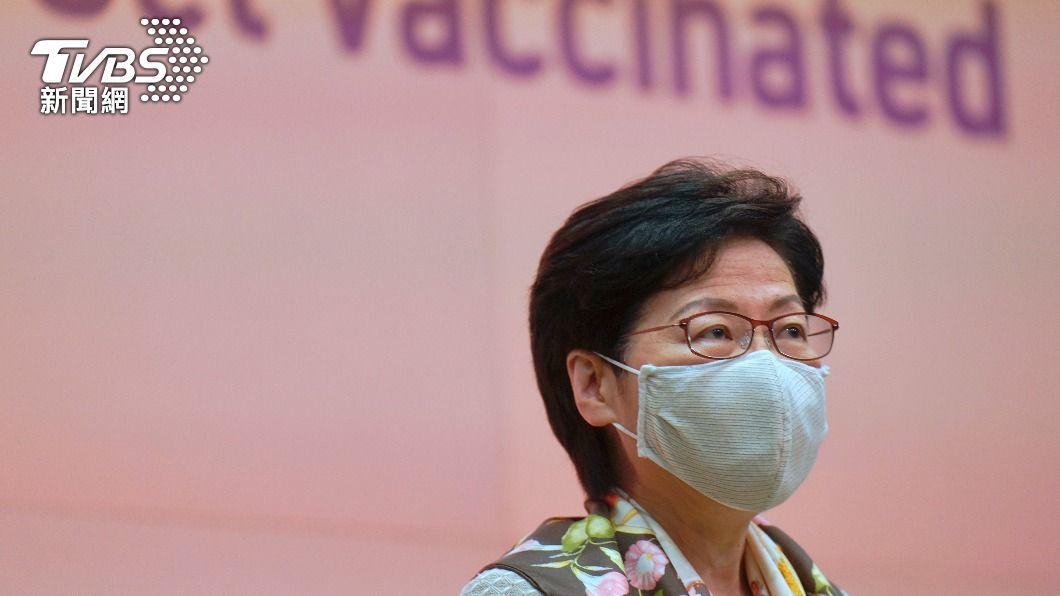 港特首林鄭月娥。(圖/達志影像美聯社) 僅11%打首劑疫苗 港特首慨嘆接種率不理想