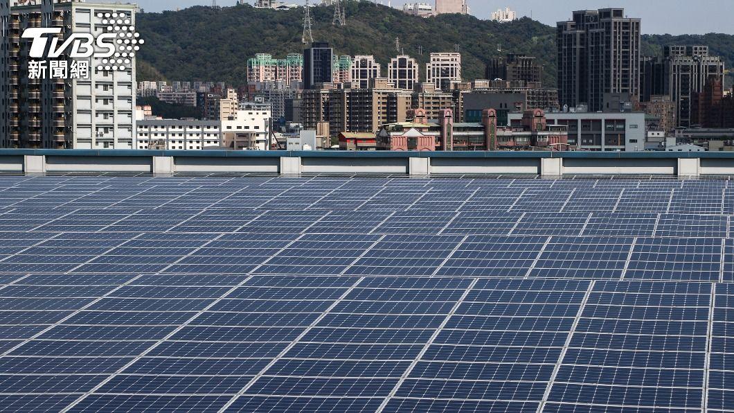 圖為太陽光電系統。(圖/中央社) 經部:再生能源發展快速 將成護國神山們重要後盾