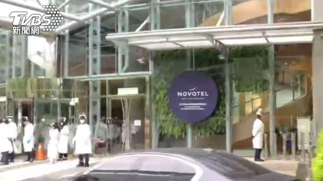 諾富特飯店再增3名員工確診。(圖/TVBS) 諾富特再+3最新採檢結果曝!陳時中認是「飯店群聚」