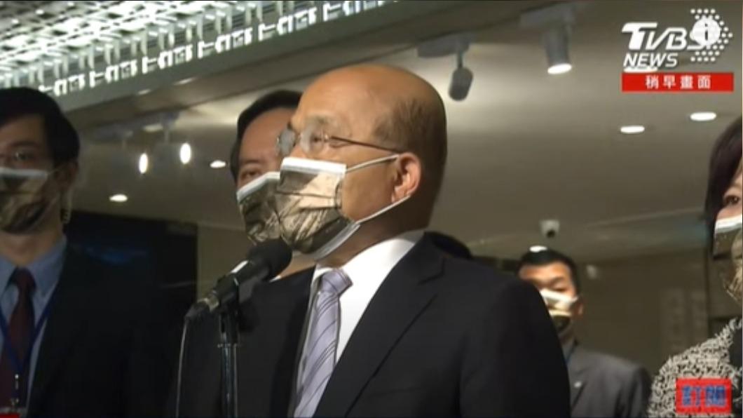 蘇貞昌說民進黨員若違法亂紀,會嚴厲處置。(圖/TVBS) 曾說黑道入民進黨「門都沒有」 蘇揆:黨員違法嚴厲處置