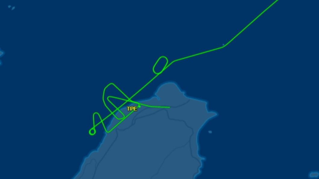 圖/翻攝自flightaware 快訊/班機遭鳥擊桃機關場 華航貨機轉降松機