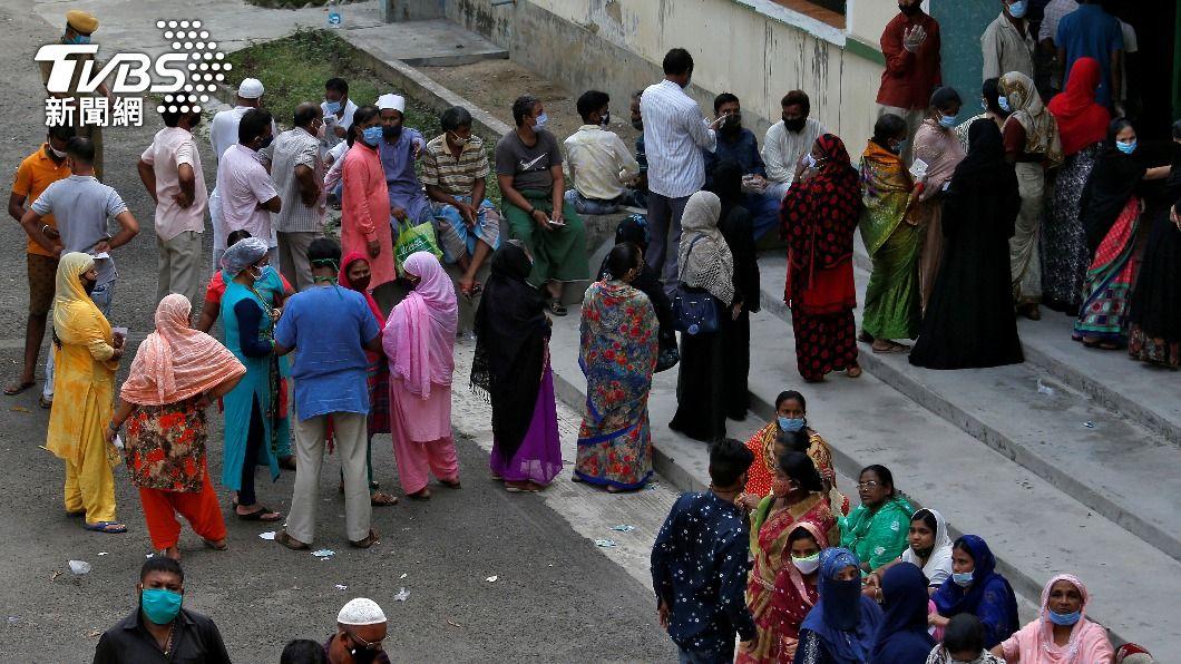 圖/達志影像路透社 世衛官員警告 印度疫情危機可能發生在任何地方