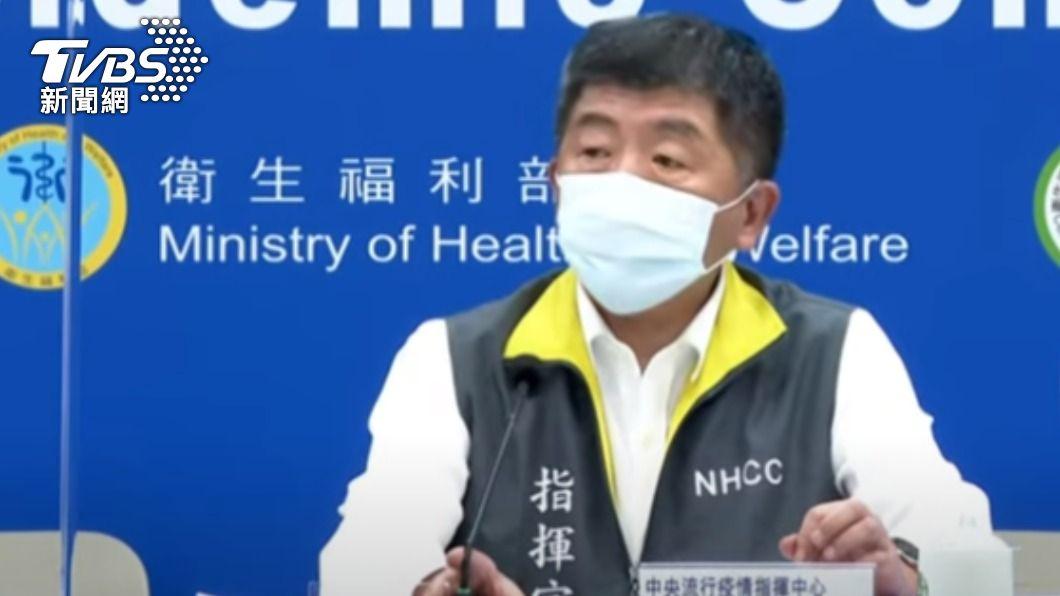 中央流行疫情指揮中心指揮官陳時中。(圖/TVBS) 今再增3例本土 皆為機場防疫旅館員工