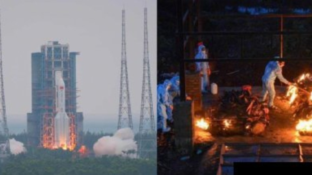 陸官媒貼「射火箭vs.燒屍圖」 諷印度疫情挨轟