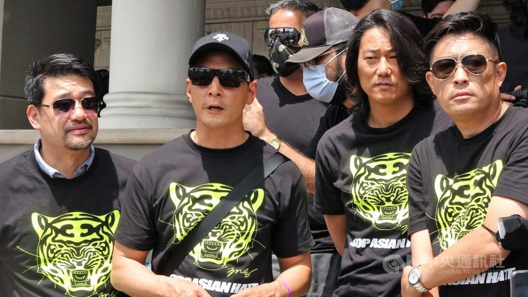 圖/中央社 影星吳彥祖帶頭 千萬超跑加州遊行為亞裔發聲