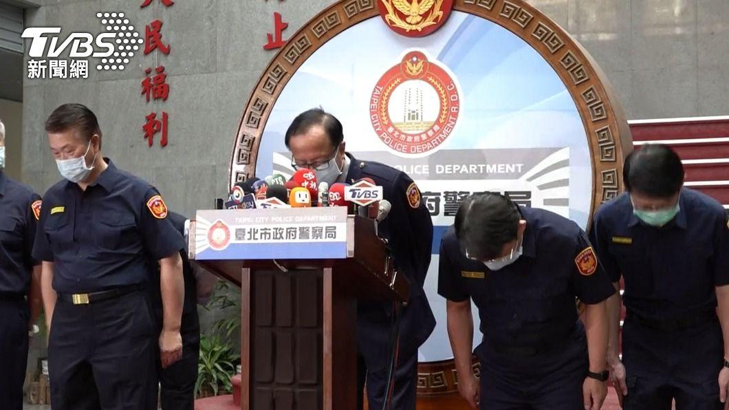 台北市警察局致歉。(圖/TVBS) 陳家欽、陳嘉昌下台?徐國勇:欺瞞長官不應該