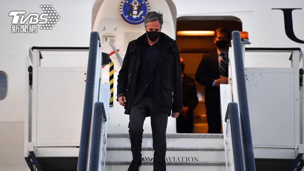美國國務卿布林肯於週日(2日)抵達倫敦,開啟訪歐行程。(圖/達志影像路透社) 布林肯接受媒體專訪不避談新疆議題 指陸「不公平」競爭