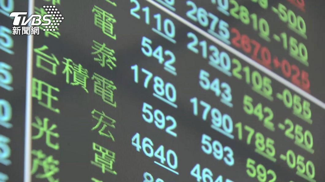 圖/TVBS資料畫面 快訊/台股開紅走低!電子股湧賣壓 一度暴跌逾500點