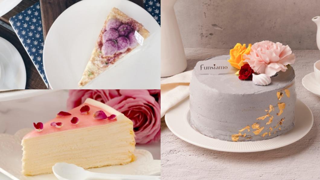 各商店推出多種超夢幻母親節蛋糕。(圖/翻攝自Lady M、Funsiamo、時飴Approprie官網) 寵媽咪寵進心坎裡!10款超夯蛋糕讓媽媽再懷少女心