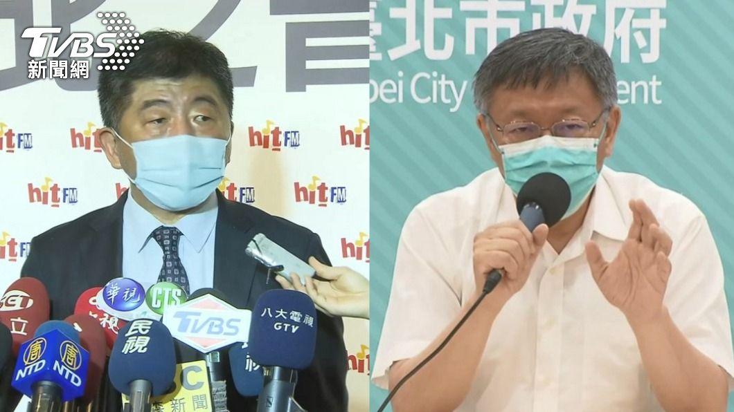 台北市者柯文哲認為疫苗施打對象排序戰略錯誤。(圖/TVBS) 遭質疑疫苗接種順序錯誤 陳時中:有意見為何不先說?