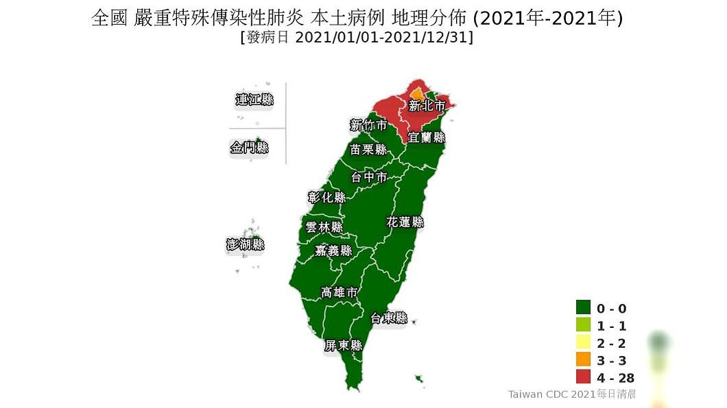 全台本土病例地圖出爐 新北警戒「橘轉紅」