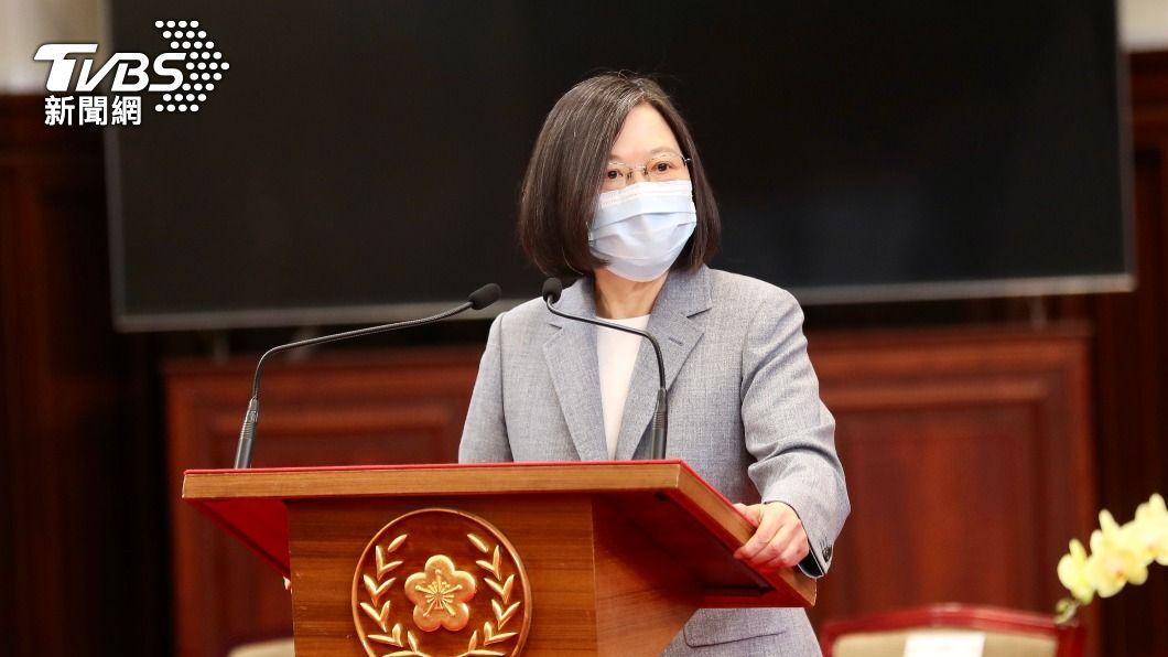 總統蔡英文獲馬侃獎。(圖/中央社) HFX論壇宣布 蔡英文為2020年「馬侃獎」得主