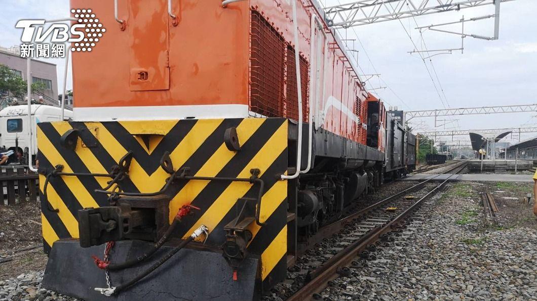 台鐵貨車在成功站調車時出軌。(圖/中央社) 台鐵貨車傳成功站出軌? 台鐵澄清:是擠壞轉轍器