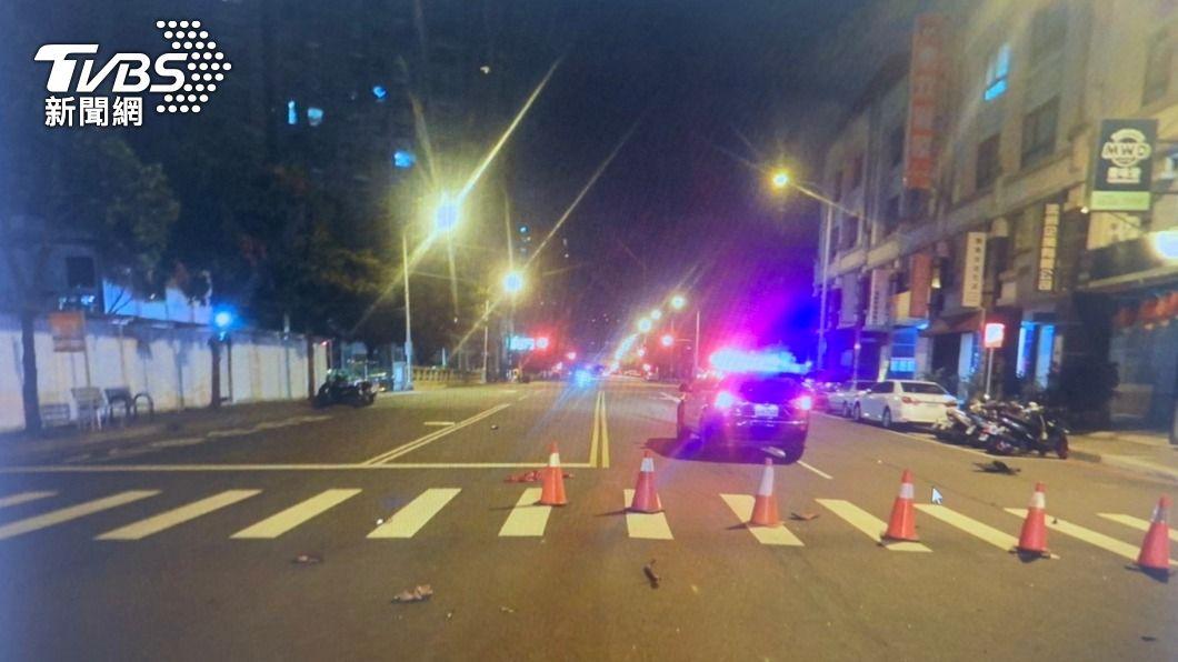 (圖/中央社) 台中男子凌晨酒駕撞死70歲婦 現場還發現啤酒罐