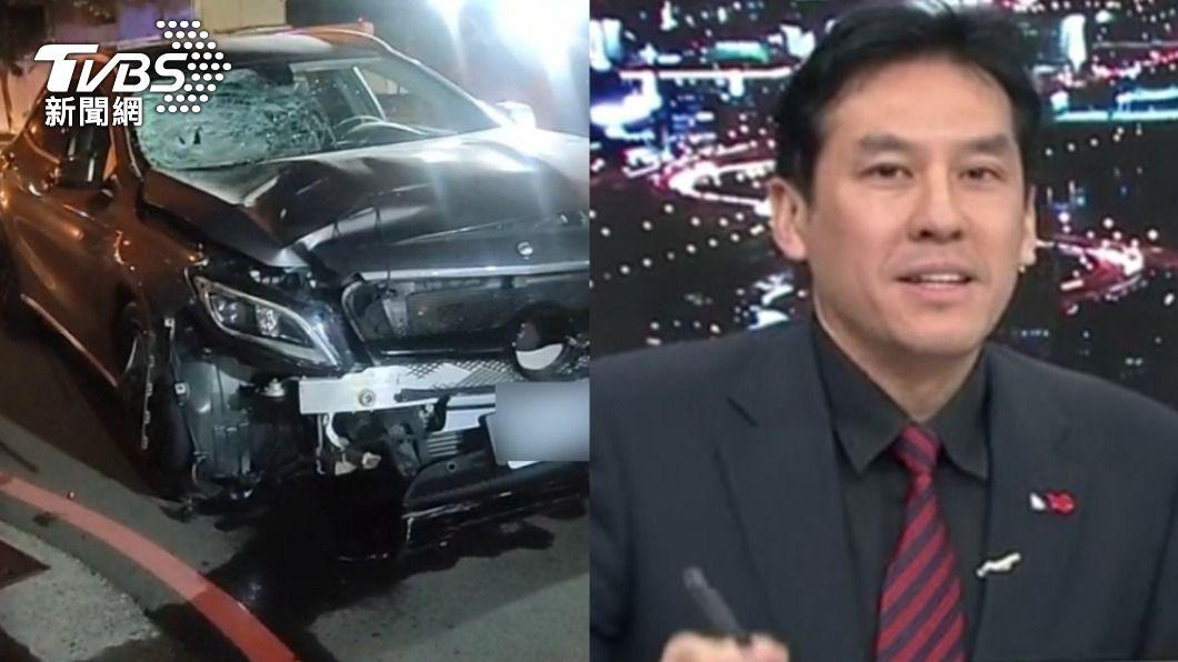 警方證實車禍死者是黃暐瀚的母親。(圖/TVBS) 台中男酒駕撞死7旬婦 警證實死者為「名嘴黃暐瀚母親」