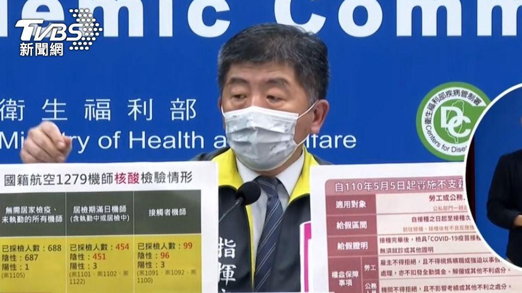 中央流行疫情指揮中心指揮官陳時中。(圖/TVBS) 保障接種者權益 5/5起可申請疫苗接種假