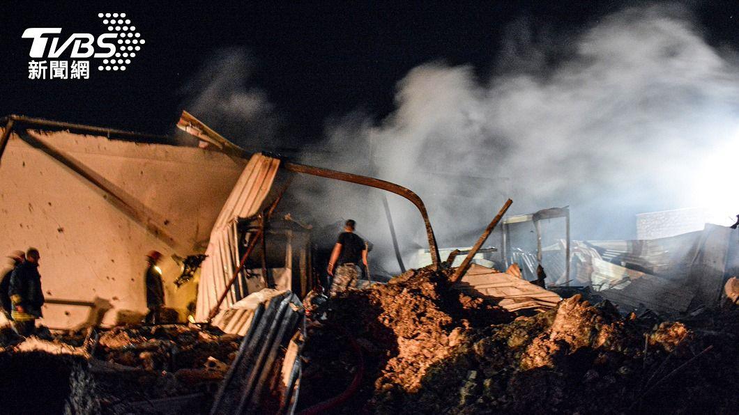 (圖/達志影像路透社) 以色列罕見空襲敘利亞總統故鄉 釀1死6傷