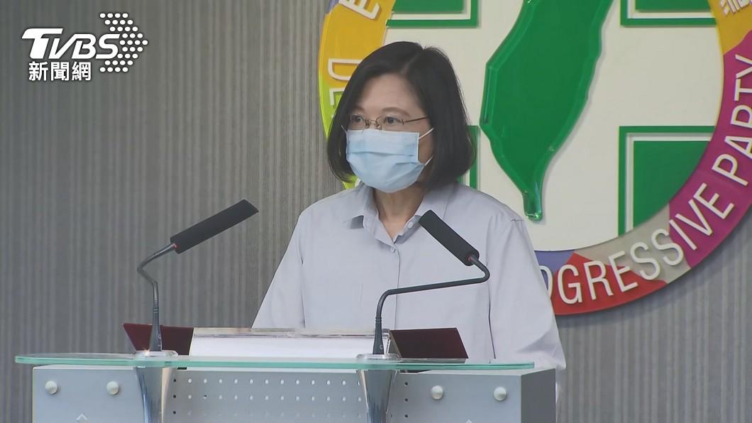 總統蔡英文下午將出面發表談話。(圖/TVBS資料畫面) 疫情增溫恐升三級警戒!蔡英文1330發表重要談話