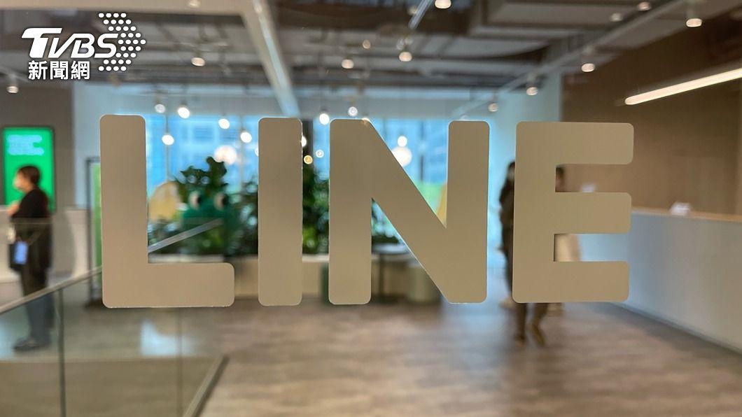 LINE新辦公室今天對外亮相。(圖/中央社) 4公尺高熊大玩偶迎賓! LINE台灣新辦公室亮相