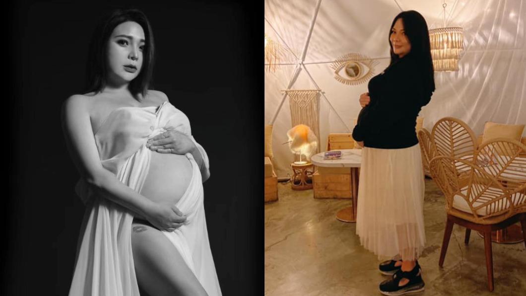 小甜甜目前已懷孕7個多月。(圖/翻攝自小甜甜臉書) 小甜甜爆「水腎宮縮」腹劇痛 送急診拒手術:為保胎兒